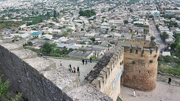 Вид на город Дербент, Дагестан