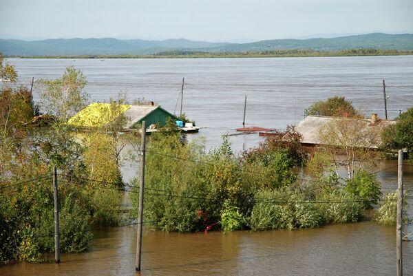 Паводок в Комсомольском районе Хабаровского края