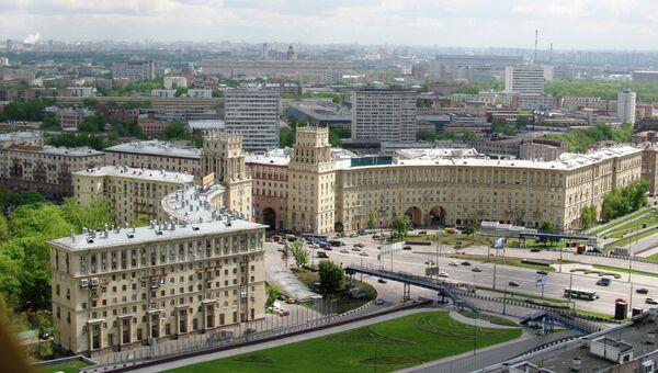 Площадь Гагарина с верхней точки