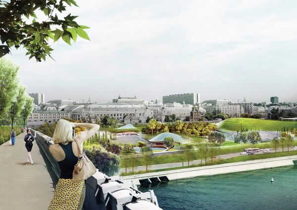 Проект победителя конкурса на разработку концепции парка Зарядье
