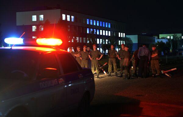 Обрушение крыши учебного центра ВДВ в Омской области