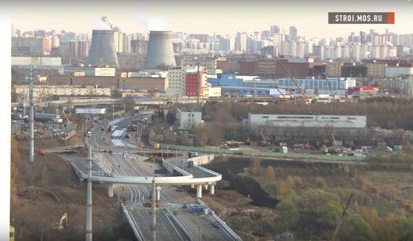 Как идет строительство двух эстакад и моста на Сколковском шоссе