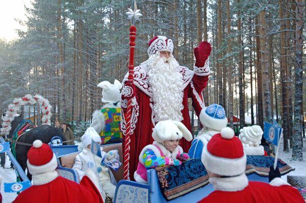 Церемония отправки Новогодней елки в Москву