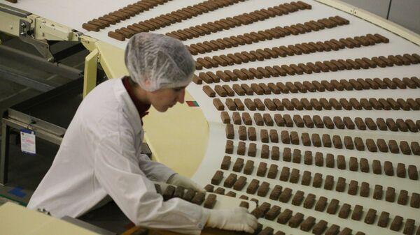 Работа кондитерской фабрики
