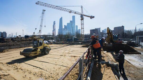 Строительство железной дороги в Москве