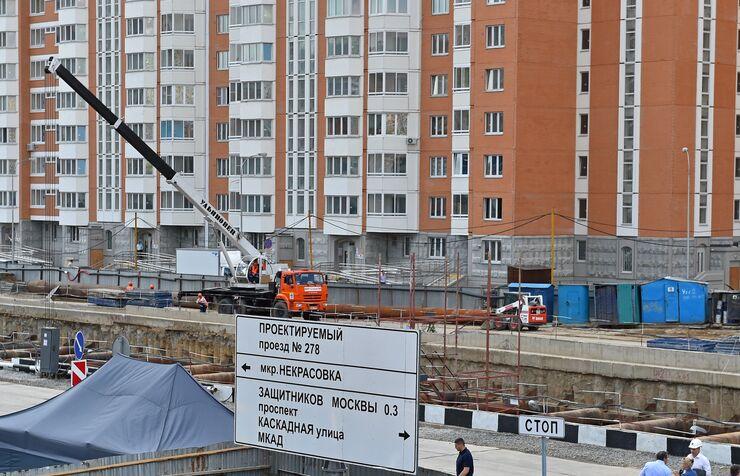 Строительство станции метро Некрасовка