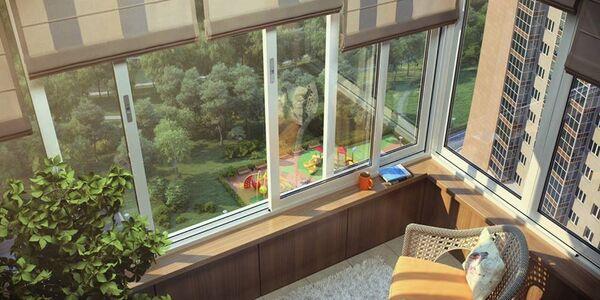 Вид из окна квартиры в ЖК Яуза парк