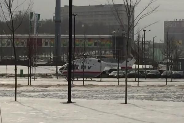 Видео с места обрушения тоннеля на Калужском шоссе