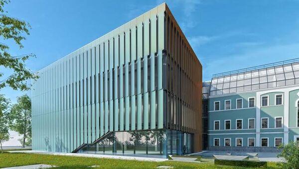 Фасады нового здания Дома Русского зарубежья им А. Солженицына на Нижней Радищевской улице