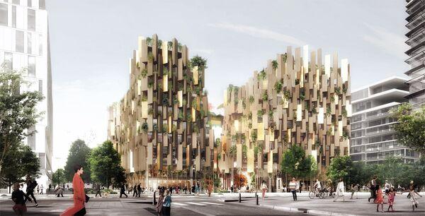 Проект эко-отеля в Париже архбюро Kengo Kuma