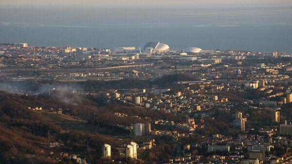 Вид на город Сочи.