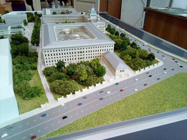 Макет комплекса бывших зданий академии РВСН