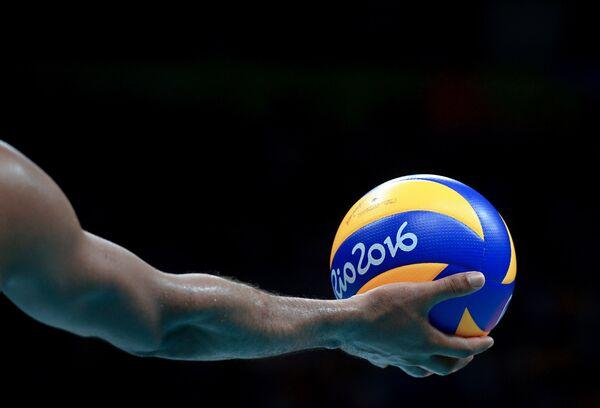 Волейбольный мяч олимпийского турнира в Рио-де-Жанейро