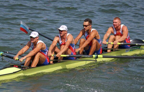 Российская четверка в составе Никиты Моргачева, Артема Косова, Антона Заруцкого и Владислава Рябцева
