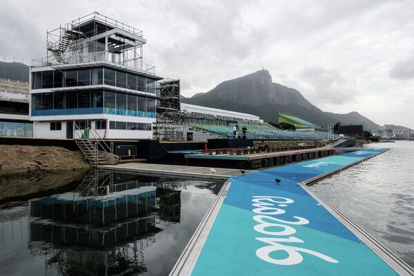 Стадион Лагоа, где проходят соревнований по академической гребле на олимпийском турнире в Рио-де-Жанейро