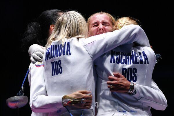 Слева направо: Любовь Шутова, Татьяна Логунова, Виолетта Колобова, Ольга Кочнева