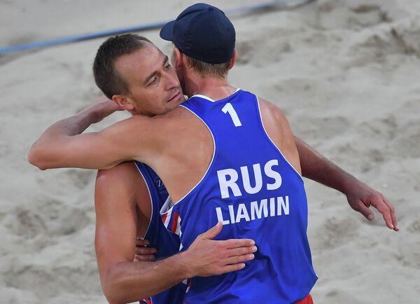 Россияне Дмитрий Барсук (слева) и Никита Лямин