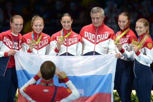 Фехтовальщицы сборной России