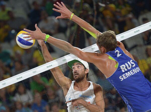 Слева направо: Даниэле Лупо (Италия) и Константин Семенов (Россия)