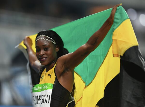 Представительница Ямайки Элейн Томпсон