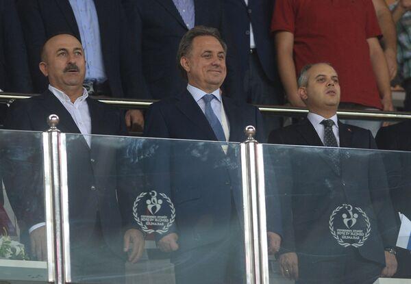 Министр спорта России Виталий Мутко (в центре)