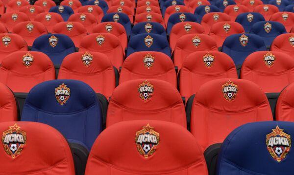 Трибуна на новом стадионе ЦСКА в Москве