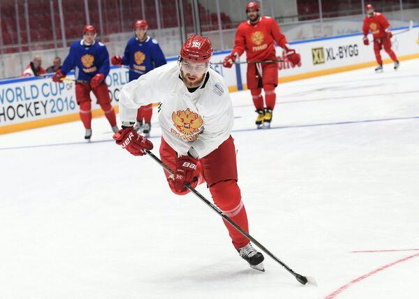Защитник сборной России по хоккею Никита Нестеров
