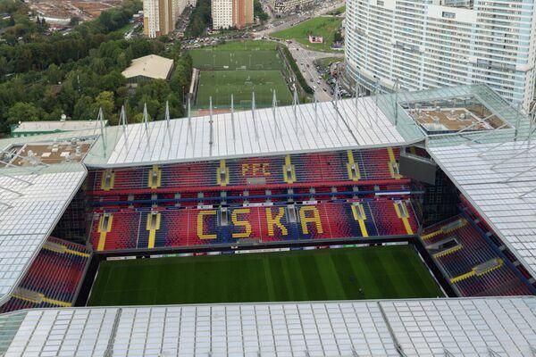 Вид сверху на новый стадион ЦСКА - Арена ЦСКА
