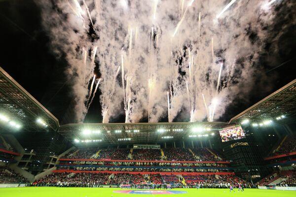 Церемония открытия стадиона ЦСКА перед началом матча 6-го тура РФПЛ между ЦСКА (Москва) - Терек (Грозный)