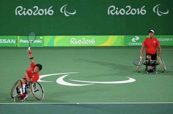 Японские спортсмены во время Паралимпиады-2016 в Рио-де-Жанейро