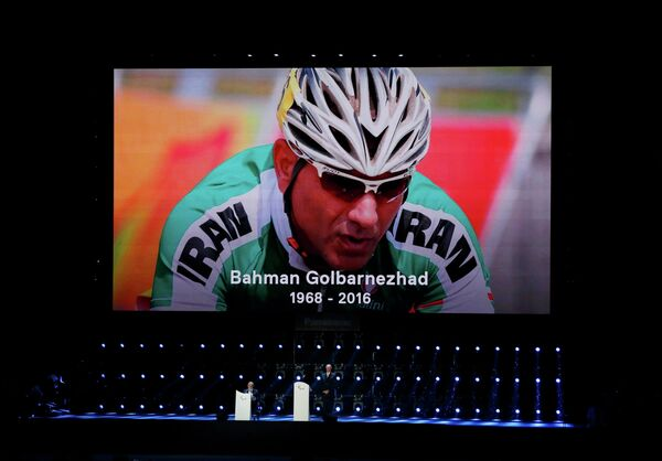 Иранский велогонщик Бахман Голбарнежад