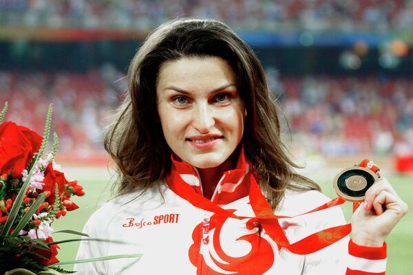 Анна Чичерова с бронзовой медалью Олимпиады-2008