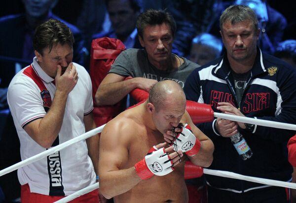 Федор Емельяненко и Владимир Воронов (справа). Архивное фото