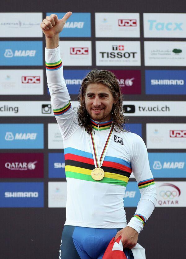 Словацкий велогонщик Петер Саган из российской команды Tinkoff