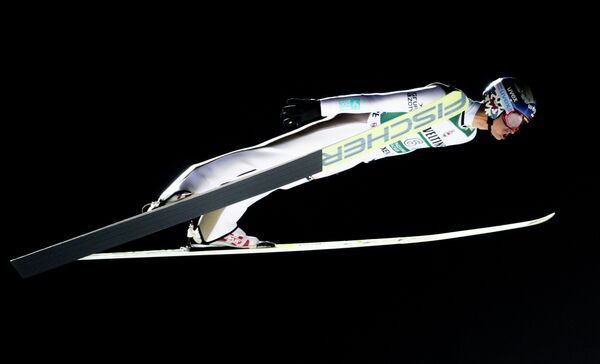 Польский летающий лыжник Мацей Кот