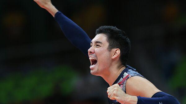 Эрик Шоджи после победы в матче за бронзовые медали Олимпийских игр