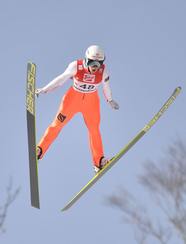 Российская летающая лыжница Ирина Аввакумова