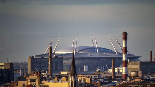 Вид на стадион на Крестовском острове в Санкт-Петербурге