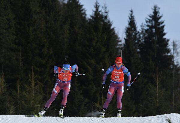 Россиянки Татьяна Акимова (слева) и Ирина Услугина