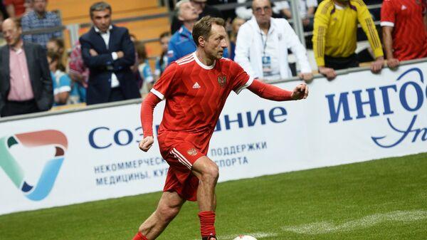 Игрок сборной России Дмитрий Хлестов