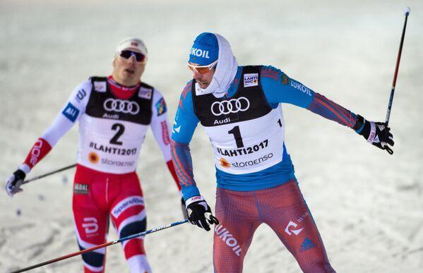 Сергей Устюгов (Россия) (справа) и Финн Крог (Норвегия)