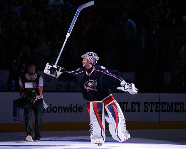 Российский вратарь клуба НХЛ Коламбус Блю Джекетс