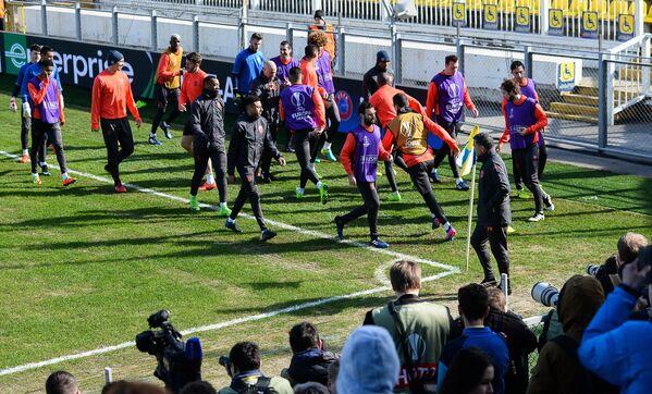 Тренировка ФК Манчестер Юнайтед