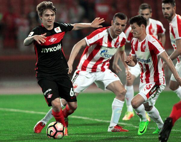 Игровой момент матча Црвена Звезда - Спартак
