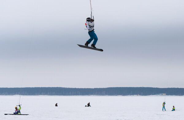Чемпионат Новосибирской области по зимнему кайтингу