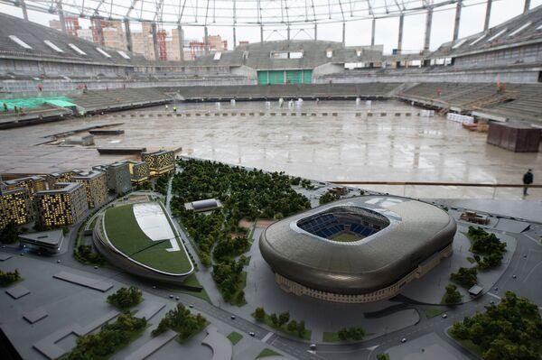 Стадион Динамо в Москве в процессе реконструкции