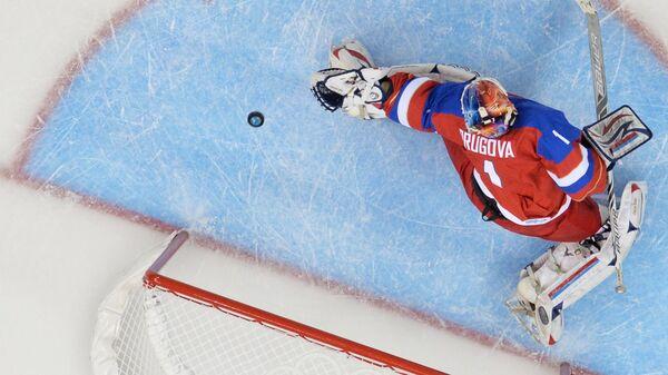 Вратарь женской сборной России по хоккею Анна Пругова