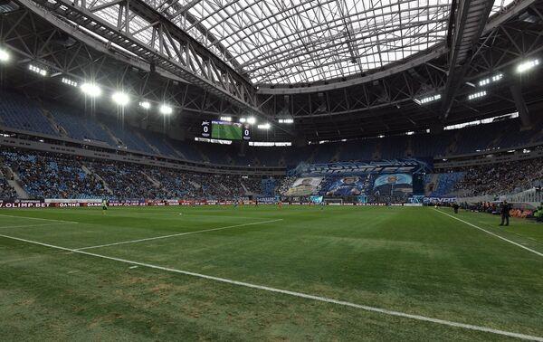Игровой момент матча Зенит - Урал