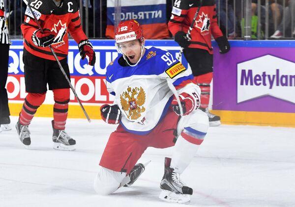 Нападающий сборной России Евгений Кузнецов