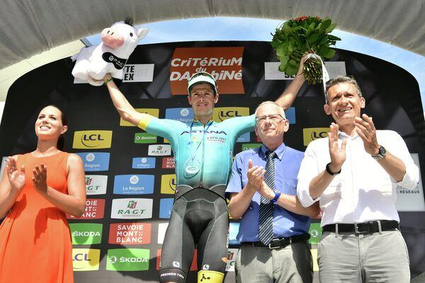 Датский велогонщик Якоб Фульсанг из команды Астана